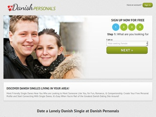 Danish Personals Homepage Image
